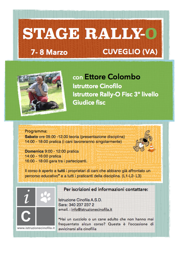 Stage Rally-Obedience con Ettore Colombo